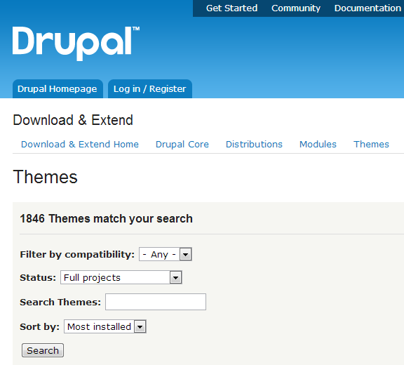 Installing Drupal Themes
