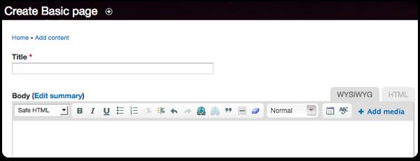 Posting Content on Drupal